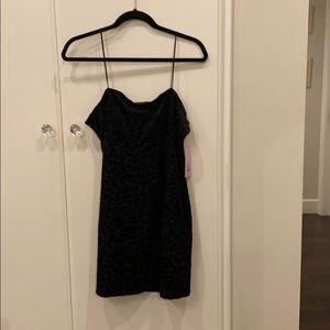 Black velvet pattern slip dress Sz small junior